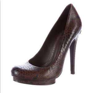 Tory Burch Jude Snake effect leather stilettos